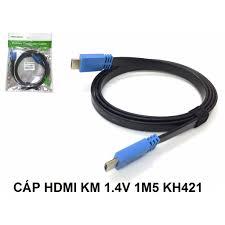 CÁP HDMI KM 1.4V 1M5 KH421 DẸP Giá chỉ 60.000₫