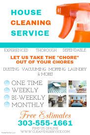 Cleaning Service Templates House Cleaning Service Template Postermywall