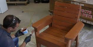 staining outdoor patio furniture