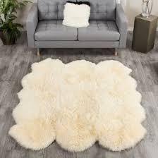 large champagne sheepskin rug 6 pelt to 5 5x6 ft