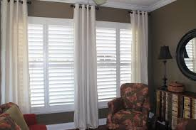 window shutters with curtains.  Curtains Curtains With Wooden Shutters Image Collections Norahbent 2018 Inside Window