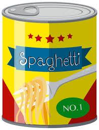 Spaghetti dans une boîte de conserve - Telecharger Vectoriel Gratuit, Clipart Graphique, Vecteur Dessins et Pictogramme Gratuit