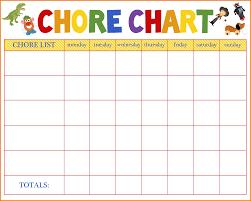Free Downloadable Chore Chart Templates Printable Chores Chart Scout Thestyleneur Xyz