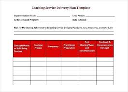 Schedule Word Blank Coaching Service Delivery Schedule Template Download