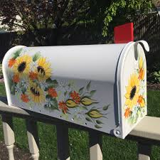 painted mailbox designs. Fine Painted By DaisyCustomPainting On Etsy For Painted Mailbox Designs