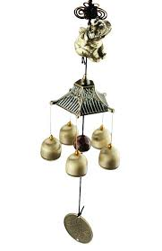 traditional amazing bronze yard garden outdoor living wind chimes chinese glass