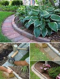 brick garden edging garden edging