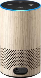 Amazon Echo (2nd Gen) Smart Speaker with Alexa Light Wood Oak ...