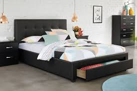 stockholm king storage bed frame by nero furniture  harvey norman