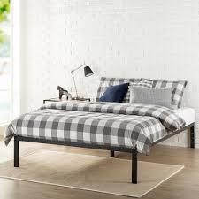 zinus mia modern studio 14 inch platform 1500 metal bed frame mattress foundation queen hd asmp 15q the home depot