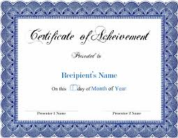 certificate template pages 17 certificate template for pages printable achievement