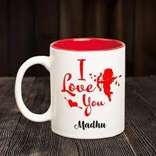 Buy Chanakya Ceramic I Love You Madhu ...