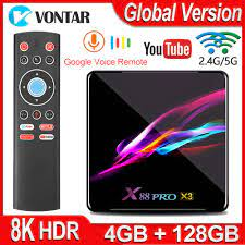 X88 PRO X3 Smart Android TV Box Android 9.0 Amlogic S905X3 Set top Box  4K@60fps 2GB/4GB RAM 128G/64G/32G/16G ROM 8K Media Player|Set-top Boxes