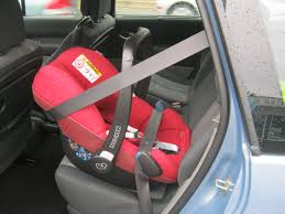 child car seat with a seat belt