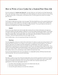 Cover Letter For Part Time Job Shishita World Com
