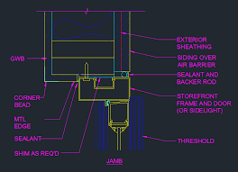 door jamb detail plan.  Detail Storefront Door Jamb Detail Plan  CAD Files DWG Files Plans And Details For Plan