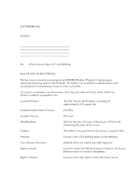 Lease Proposal Letter Awesome Commercial Property Lease Proposal Template Business Lease Proposal
