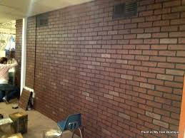 faux brick paneling from lowes can be painted any color