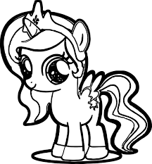 Mlp Coloring Pages Cute Heart Ponies Printable Coloring Page For Kids