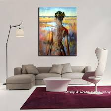 Oil Paintings For Living Room New Handpainted Sexy Girl Back Modern Oil Paintings On Canvas