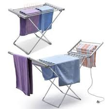 dryer that folds clothes. Image Is Loading Heated-Clothes-Airer-Dryer-Portable-Indoor-Horse-Rack- Dryer That Folds Clothes