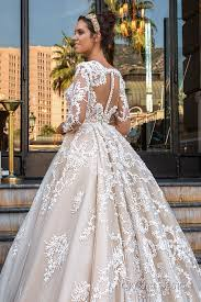 full wedding dresses. crystal design 2017 bridal long sleeves deep plunging v neck full embellishment bodice princess sexy ball wedding dresses f