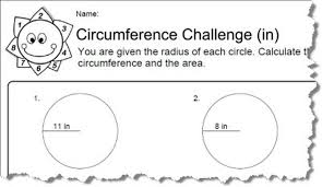 formula sheets for geometry circumference worksheets with answers
