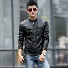 mountainskin 5xl men s leather jackets men stand collar coats male casual motorcycle leather jacket intl