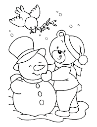 Winter Coloring Pages For Kindergarten Free Winter Coloring Pages