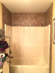 bathtub one piece units one piece shower tub units cool one piece tub shower surround ideas