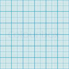 Graph Paper Cyan Color Six Centimeter Stock Vector