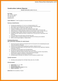 Construction Laborer Job Description Resume Resumes For Construction Workers Business Resume Pilot Resume 77