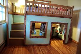 cool diy kids beds. Simple Cool Stylish Eve Diy Projects Build A Playhouse Loft Bed For Your Child Intended Cool Kids Beds I