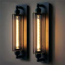 vintage wall lamp iron black light industrial rustic sconces indoor home lighting fixtures in lamps from black wall sconce