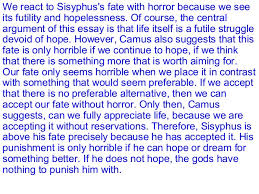the myth of sisyphus 14 we react to sisyphus s