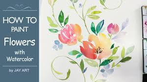 lvl4 painting flowers fl watercolor tutorial you