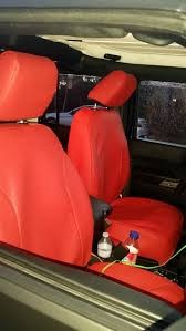 2016 jeep wrangler front red leather custom fit seat covers