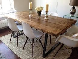 vine industrial dining 6ft farmhouse table bench 4 eames chairs included in business