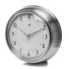 infinity instruments 9 5 silver retro wall clock