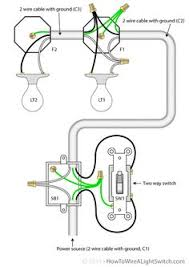 simple electrical wiring diagrams basic light switch diagram Basic Wiring For Lights 2 way switch with power feed via switch (multiple lights) how to wire basic wiring for lights uk