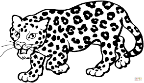 Disegno Di Un Leopardo Da Colorare Disegni Da Colorare E Stampare