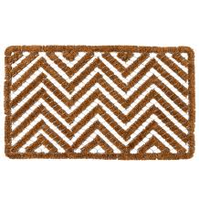 Chevron Wire & Brush Doormat | Rejuvenation