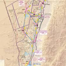 Visual Navigation Chart Nz Israel Cvfr Routes Chart Rocketroute
