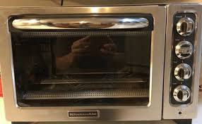 1 kitchenaid kco223cu 12 inch convection countertop oven with silver handle contour silver brand new for