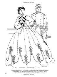 civil war fashions coloring book dover fashion coloring book amazon co