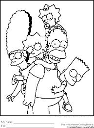 bart simpson skateboard colouring pages simpsons characters coloring the free printable