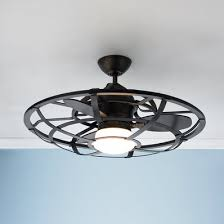 contemporary ceiling lighting. industrial cage ceiling fan contemporary lighting