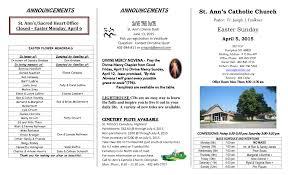 SAVE THE DATE St. Ann's Catholic Church Pastor: Fr. Joseph J. Faulkner  Easter Sunday