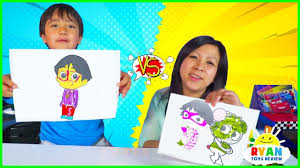 3 Marker Challenge With Ryan Vs Mommy Youtube