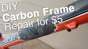diy carbon bike frame repair tools supplies how to step by step you
